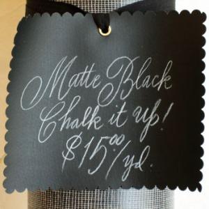 Chalk board oilcloth