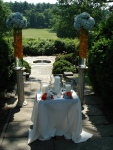 unity candle and floral arrangements