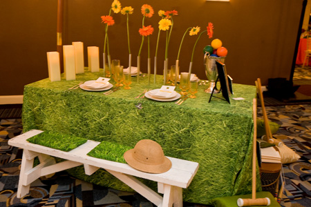 Love This Grass Tablecloth Event Accomplished