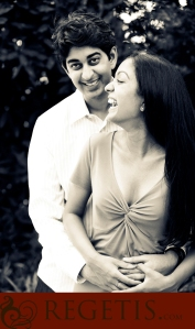 Soumya & Tejus Engagement photo by Regetis Photography