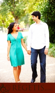 Soumya & Tejus Engagement photos by Regetis Photography