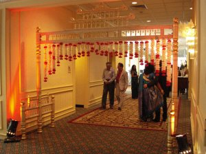 A traditional gate welcoming guests