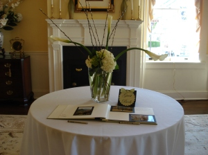 Photo album guestbook @ Thomas Birkby House