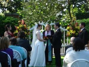 Hollin Hall Boxwood Garden Wedding Ceremony