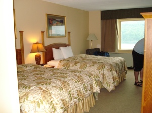 One of the well appointed, lake view rooms