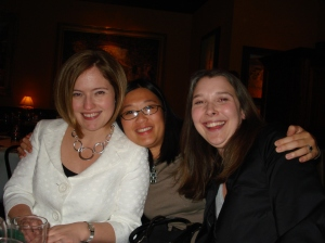 Andrea Jacobson (The Observatory), me and Sara Bauleke (Bella Notte)