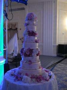 The 7 tier cake!