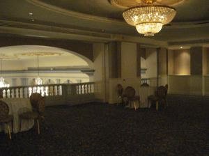 Upper balcony. You can see the ceiling of the ballroom.