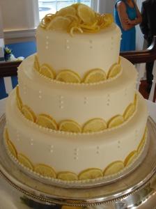 Wedding cake with lemons
