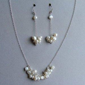June Shin pearl cluster wedding jewelry