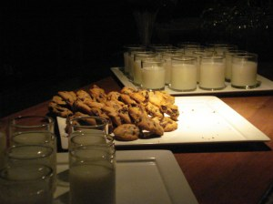 clarendon ballroom milk and cookies for dessert