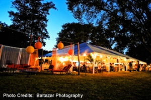 Leesburg Virginia at home wedding tent