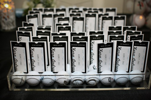 Clarendon Ballroom wedding  sports theme escort cards