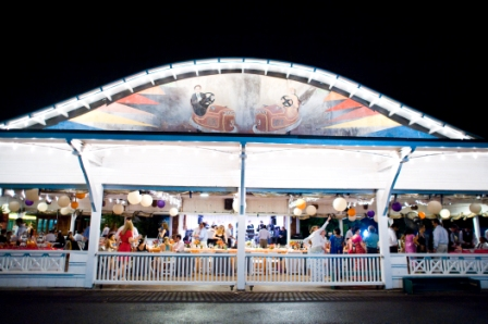 Glen Echo Park Bumper Car Pavilion night wedding reception