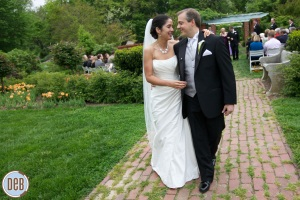 River Farm Alexandria wedding ceremony garden