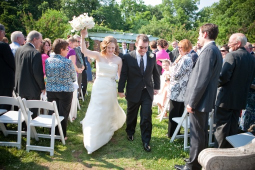 River Farm outdoor wedding ceremony garden