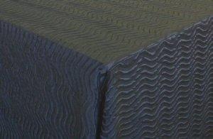 Black Wavy Stripe tablecloth DC Rental