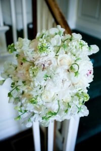 Petals Edge Floral Design River Farm wedding peonies bridal bouquet