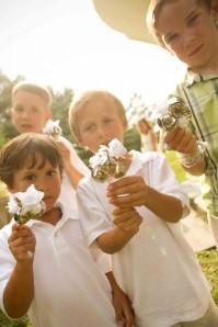 bell ringers  wedding ceremony children backyard Potomac