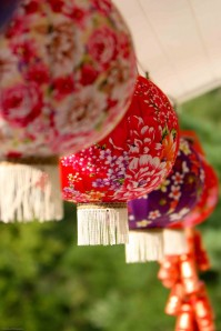 Chinese paper lanterns for wedding
