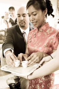 Chinese tea ceremony backyard wedding Potomac