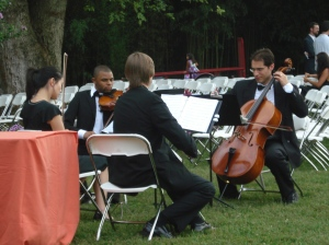 St. Charles String Quartet Potomac backyard wedding