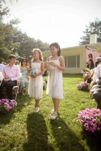 unique water ceremony wedding backyard Potomac