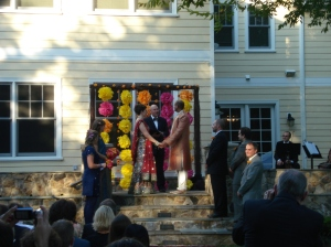 Great Falls backyard wedding ceremony Indian fusion