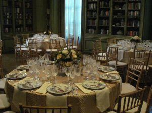 Meridian House wedding reception gold European elegance fall DC