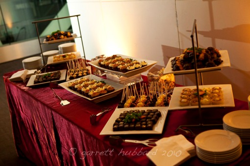 Dessert buffet Wolfgang Puck Catering Newseum Washington DC