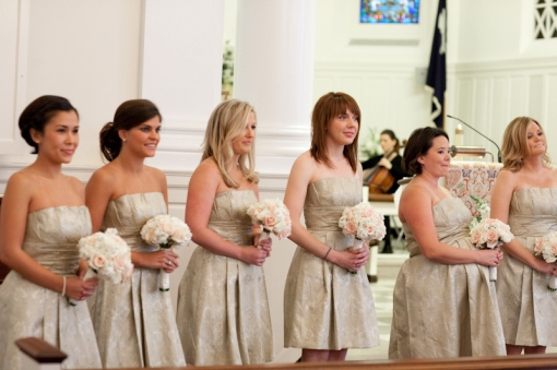 Ft. Myer Old Post Chapel Washington Golf and Country Club wedding Priscilla of Boston bridesmaid dress