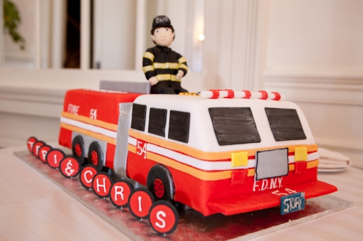 Sweet Ladies Bakery Fire Truck grooms cake