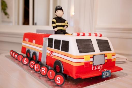 Sweet Ladies Bakery Fire Truck grooms cake