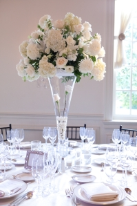 Washington Golf and Country Club wedding white champagne The City Florist centerpiece