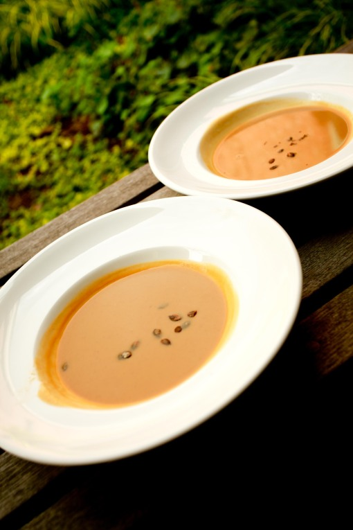 Windows Catering Company squash and apple bisque at Meadowlark